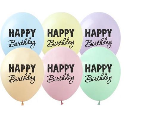 Кульки надувні З Днем народження 24шт RV-233 - H-204