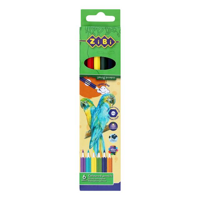 Олівці кольорові 6 шт Soft ZB2409