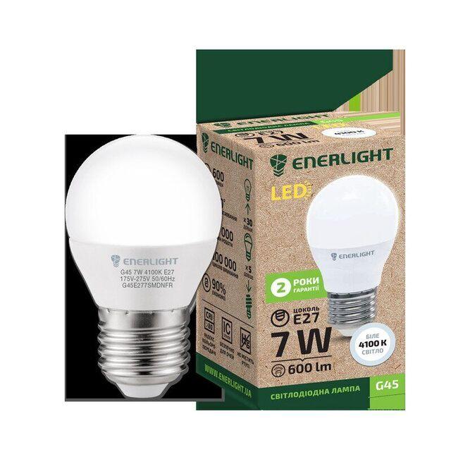 Лампочка LED ENERLIGHT G45 7W E27 4100K