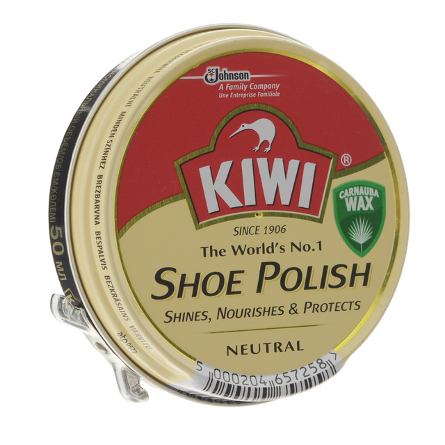Крем для взуття в банці KIWI нейтральний 50 мл