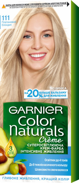 Фарба для волосся Garnier Color Платиновий блондин 111 110 мл