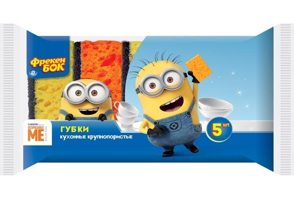 Губка для посуду Minions 5шт Фрекен Бок