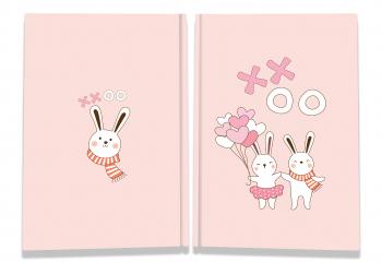 Блокнот TM Profiplan Sweet love note Rebbits А5