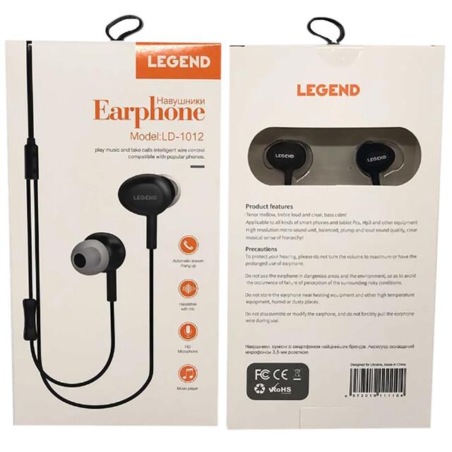 Навушники LEGEND LD1012