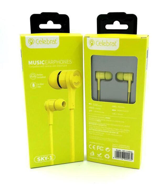 Навушники Celebrat G7 Yellow