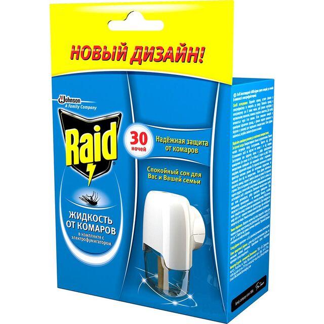 Електрофумігатор з рідиною 30 ночей без комарів Raid 657103