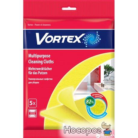Серветки для прибирання віскозні, 5 шт Vortex