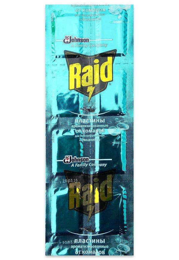 Пластини від комарів Raid Евкаліпт 10шт 648978