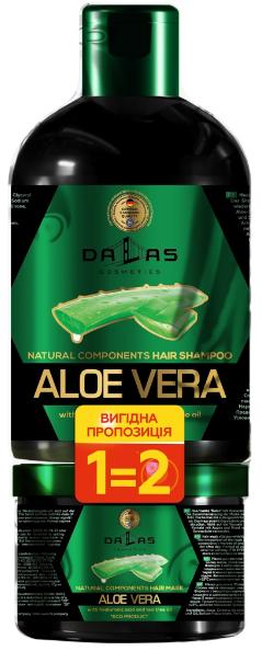 Набір Шампунь Dalas AloeVera 1л+Маска 500мл