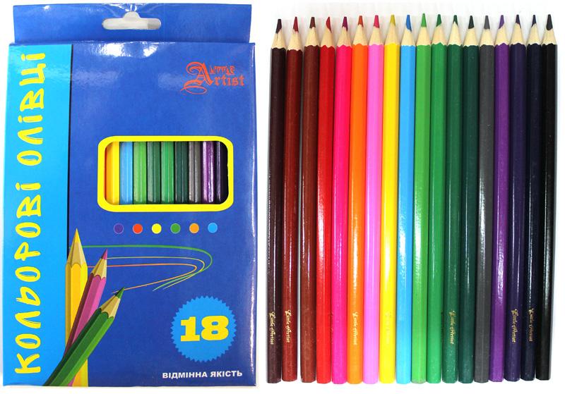 Олівці кольорові 18 кол шестигранні Lіttle Artіst 081970