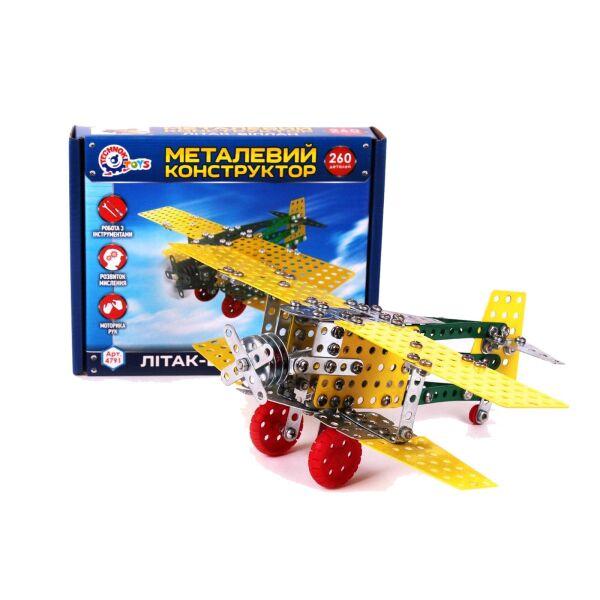 Конструктор металевий Літак-біплан ТехноК 4791