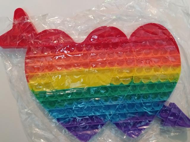 Антистрес іграшка POP IT Серце подвійне 40 см
