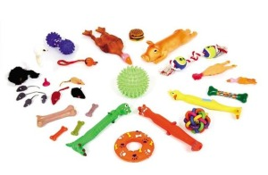 Засоби догляду та іграшки для тварин